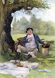 Mr Pickwick, illustrated by Frederick Barnard